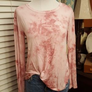 Pink tie-dye l/s t.  Softest material ever!